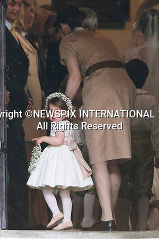 20.05.2017; Englefield, UK: ROYAL NANNY MARIA BORRALLO TAKES CHARGE<br /> It was both a moment of tears and joy for Princess Charlotte and Prince George who were flowergirl and page boy respectively at aunt Pippa Middleton's Wedding to James Mathews at St Mark's Church, Englefield.<br /> Also present at the church service were the Duke and Duchess of Cambridge, Prince Harry and Princess Eugenie.<br /> Mandatory Photo Credit: &copy;Francis Dias/NEWSPIX INTERNATIONAL<br /> <br /> IMMEDIATE CONFIRMATION OF USAGE REQUIRED:<br /> Newspix International, 31 Chinnery Hill, Bishop's Stortford, ENGLAND CM23 3PS<br /> Tel:+441279 324672  ; Fax: +441279656877<br /> Mobile:  07775681153<br /> e-mail: info@newspixinternational.co.uk<br /> Usage Implies Acceptance of OUr Terms &amp; Conditions<br /> Please refer to usage terms. All Fees Payable To Newspix International