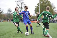 VOETBAL: HEERENVEEN: 07-11-2015, Heerenveense Boys - Zwaagwesteinde, uitslag 2-3, Matthijs Bakker (#6), Wytze Pilat (#11), uitslag 2-3, ©foto Martin de Jong