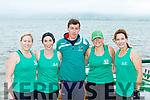 The Cromane Senior ladies crew at the Cromane Regatta on Saturday l-r: Grainne Keary, Margaret O'Shea, Liam Teahan, kerry McKenna and Vivian Juffs