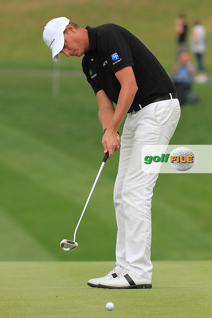 Andrew Dodt playing the 18th on day three of the Celtic Manor Wales Open 2010.Picture Fran Caffrey/Newsfile.ie