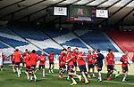 Scotland arrive at Hampden for training