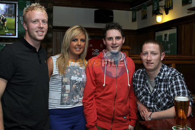Eoin Hancock, Lisa Farrelly, Ian Farrell and Ciaran Brodigan in McPhails...(Photo credit should read Jenny Matthews www.newsfile.ie)....This Picture has been sent you under the conditions enclosed by:.Newsfile Ltd..The Studio,.Millmount Abbey,.Drogheda,.Co Meath..Ireland..Tel: +353(0)41-9871240.Fax: +353(0)41-9871260.GSM: +353(0)86-2500958.email: pictures@newsfile.ie.www.newsfile.ie.