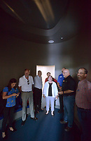 NWA Democrat-Gazette/BEN GOFF @NWABENGOFF<br /> Randy Graham (second from right), director of guest services at the Scott Family Amazeum, leads a tour Thursday, May 18, 2017, for participants in the Arkansas State Parks, Recreation & Travel Commission's May meeting during a stop at the museum in Bentonville. Commissioners were able to see some of what Northwest Arkansas has to offer while in town for the three-day meeting, which concludes Friday, including visits to Prairie Grove Battlefield State Park, Brightwater culinary school, Hobbs State Park - Conservation Area and Crystal Bridges Museum of American Art.