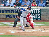 Chicago Cubs first baseman Anthony Rizzo (44) bats in the fourth inning against the Washington Nationals at Nationals Park in Washington, D.C. on Wednesday, June 15, 2016.  The Nationals won the game 5 - 4 in twelve innings.<br /> Credit: Ron Sachs / CNP