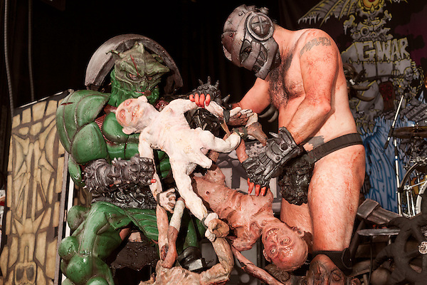 August 17, 2013. Richmond, Virginia.<br />  GWAR.<br />  Continuing the tradition of their annual metal festival, GWAR headlined the GWAR BQ at Hadad's Lake, with guest bands such as X Cops, Cannabis Corpse, Pig Destroyer, Municipal Waste and several others.