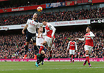 Tottenham's Kevin Wimmer scoring an own goal during the Premier League match at the Emirates Stadium, London. Picture date November 6th, 2016 Pic David Klein/Sportimage