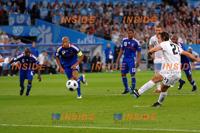 Andrea Pirlo Italia scores on penalty<br /> Il gol su calcio di rigore di Andrea Pirlo<br /> Zurich/Zurigo 17/6/2008 Stadium &quot;Letzigrund&quot; <br /> France Italy - Francia Italia 0-2<br /> Euro2008 Calcio Group C<br /> Foto Andrea Staccioli Insidefoto