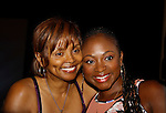 The National Black Theatre Festival with co-chair All My Children's Debbi Morgan who is posing with Naturi Naughton at the press conference with a week of plays, workshops and much more with an opening night gala of dinner, awards presentation followed by Black Stars of the Great White Way followed by a celebrity reception. It is an International Celebration and Reunion of Spirit. (Photo by Sue Coflin/Max Photos)