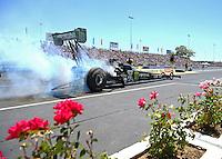 Jun 12, 2016; Englishtown, NJ, USA; NHRA top fuel driver Brittany Force during the Summernationals at Old Bridge Township Raceway Park. Mandatory Credit: Mark J. Rebilas-USA TODAY Sports