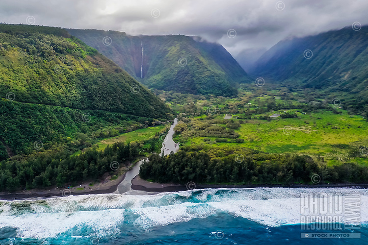 Sacred Waipi'o Valley and River along the Hamakua coast of the Big Island of Hawai'i.