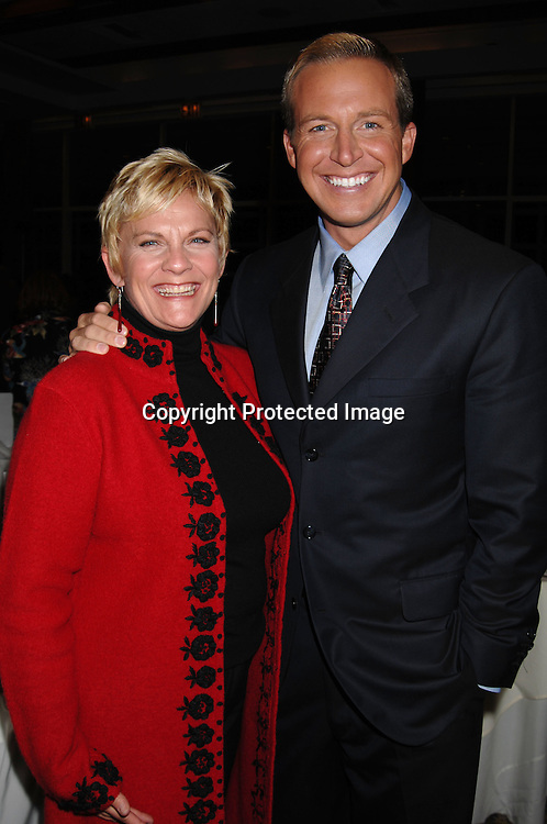 "Kim Zimmer and Chris Wragge..at The League For The Hard of Hearing's ""Feast With Famous Faces"" Gala on October 23, 2006 at Pier Sixty. ..Kassie and James DePaiva were the co-chairs. ..Robin Platzer, Twin Images"