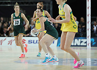 15.09.2018 SOuth Africa's Shadine Van der Merwe in action during the Australia v South Africa netball test match at Spark Arena in Auckland. Mandatory Photo Credit ©Michael Bradley.