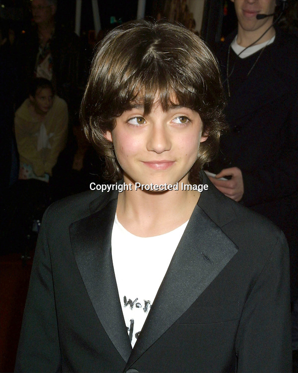 "©2003 KATHY HUTCHINS / HUTCHINS PHOTO.PREMIER OF ""CHEAPER BY THE DOZEN"".LOS ANGELES, CA.DECEMBER 14, 2003..JACOB SMITH"