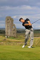 Darragh Coghlan (Portmarnock) on the 13th tee during Round 2 of The South of Ireland in Lahinch Golf Club on Sunday 27th July 2014.<br />