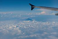 Daytime aerial view of Fuji San and clouds in the Chubu region following the 311 Tohoku Tsunami near Tokyo, Japan  © LAN