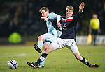 Dundee v St Johnstone.....27.02.13      SPL.Paddy Cregg and Jim McAlister.Picture by Graeme Hart..Copyright Perthshire Picture Agency.Tel: 01738 623350  Mobile: 07990 594431