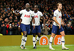Tottenham's Moussa Sissoko (L) celebrates after scoring to make it 3-0 during the Premier League match at the Tottenham Hotspur Stadium, London. Picture date: 30th November 2019. Picture credit should read: Paul Terry/Sportimage