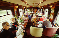 The observation car at the end of the Royal Scotsman.