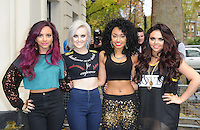 November 13rd, 2012 - London..Little Mix see arriving at Radio One studios to promote their new single.
