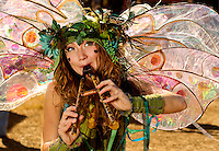 Twig the Fairy entertains visitors at the annual Carolina Renaissance Festival in November 2011. The annual Renaissance Festival and Fair takes place each October and November in Huntersville, NC, near Charlotte, NC.