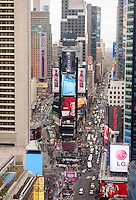 Times Square is readied prior to New Year's Eve on Tuesday, December 30, 2014. Times Square will play host to approximately one million revelers despite the cold weather predicted. (© Richard B. Levine)
