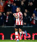 Nederland, Eindhoven, 31 maart 2012.Eredivisie.Seizoen 2011-2012.PSV-VVV 2-0.Memphis Depay van PSV juicht na het scoren van de 2-0