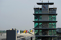 10-18 May 2008, Indianapolis, Indiana, USA. View of flags and Pagoda from the grandstand in turn one..©2008 F.Peirce Williams USA.....