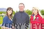 Kate McNamara, Brian Whelan and Aine O'Connor Abbeyfeale at the Killarney Races on Sunday