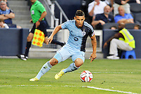 Kansas City, KS. - May 27 2014: Sporting Kansas City played to a 1-1 tie with the New York Red Bulls in a Major League Soccer (MLS) game at Sporting Park.