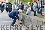 Listowel Military Tattoo: Minister Jimmy Deenihan on behalf of the Irish Government laying a wreath at the Memorial stone to all that died in wars in Listowel on Saturday.