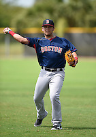GCL Red Sox shortstop Michael Chavis (39) during practice before a game against the GCL Rays on June 24, 2014 at Charlotte Sports Park in Port Charlotte, Florida.  GCL Red Sox defeated the GCL Rays 5-3.  (Mike Janes/Four Seam Images)