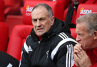 Swansea City Manager, Francesco Guidolin during the Barclays Premier League match between Stoke City and Swansea City played at Britannia Stadium, Stoke on April 2nd 2016