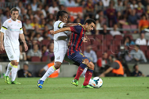 02.08.2013 Barcelona, Friendly football competition Joan Gamper Trophee.  Xavi  in action during the friendly match in the nou Camp
