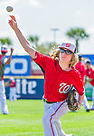 5 March 2015: Washington Nationals outfielder Jayson Werth's son, Jackson Werth participates in batting practice prior to a Spring Training game against the New York Mets at Space Coast Stadium in Viera, Florida. The Nationals rallied to defeat the Mets 5-4 in Grapefruit League play. Mandatory Credit: Ed Wolfstein Photo *** RAW (NEF) Image File Available ***