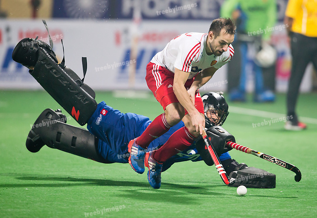 Mens Hockey World league Final Delhi 2014<br /> Day 5, 17-01-2014<br /> England v New Zealand<br /> Nick Catlin<br /> <br /> Photo: Grant Treeby / treebyimages