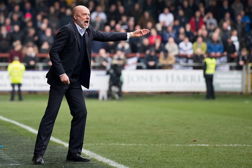 Fleetwood Town manager Uwe Rosler  shouts instructions to his team from the dug-out<br /> <br /> Photographer Terry Donnelly/CameraSport<br /> <br /> The EFL Sky Bet League One - Fleetwood Town v Bolton Wanderers - Saturday 11th March 2017 - Highbury Stadium - Fleetwood<br /> <br /> World Copyright &copy; 2017 CameraSport. All rights reserved. 43 Linden Ave. Countesthorpe. Leicester. England. LE8 5PG - Tel: +44 (0) 116 277 4147 - admin@camerasport.com - www.camerasport.com