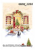 Roger, CHRISTMAS LANDSCAPES, WEIHNACHTEN WINTERLANDSCHAFTEN, NAVIDAD PAISAJES DE INVIERNO, paintings+++++_RM-XmasDoorway11284,GBRM1284,#xl#