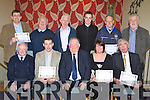 TRAINED: Austin Stacks Park stewards who trained in the use of defibrillators received their awards in the Ballyroe Heights Hotel on Friday night. Seated l-r: Charlie Hartnett (The Red Cross), David Heaslip, Jerome Conway, Bernie Hayes and Teddy O'Sullivan. Standing l-r: Pat McTigue, Willie O'Connor, John McKiernan, James McDonnell, James Hayes and Eamon O'Sullivan.   Copyright Kerry's Eye 2008