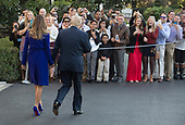 United States President Donald J. Trump and First Lady Melania Trump greet well wishers before departing the White House in Washington, DC, November 3, 2017 for a multi-day trip to Hawaii and then on to Asia.<br /> Credit: Chris Kleponis / CNP