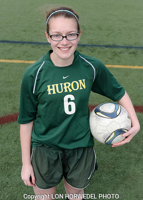 Huron High School girl's junior varsity soccer team. 4-2-14