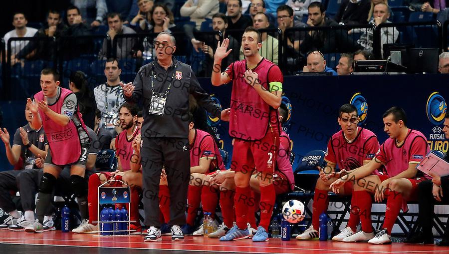 Aca Kovacevic i Marko Peric  UEFA Euro 2016 Futsal Evropsko Prvenstvo, Srbija - Slovenija 2.2.1016. Februar 2. 2016. (credit image & photo: Pedja Milosavljevic / STARSPORT) total