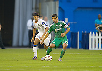 03 August 2010 Panathinaikos FC midfielder Konstantinos Katsouranis No. 29 and Inter Milan  Felice Natalino No.57 in action during an international friendly  between Inter Milan FC and Panathinaikos FC at the Rogers Centre in Toronto..