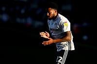 30th July 2020; Craven Cottage, London, England; English Championship Football Playoff Semi Final Second Leg, Fulham versus Cardiff City; Cyrus Christie of Fulham tries to instill some urgency in his team mates