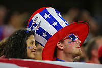 Arlington, TX - Saturday July 22, 2017: Fans during a 2017 Gold Cup Semifinal match between the men's national teams of the United States (USA) and Costa Rica (CRC) at AT&T stadium.