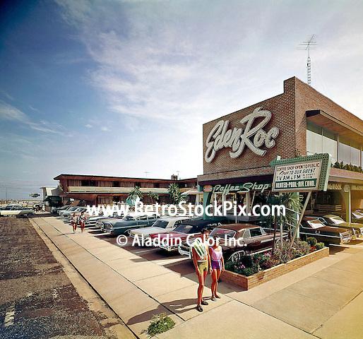 Eden Roc Motel in Wildwood, New Jersey. 1960's Exterior photograph.