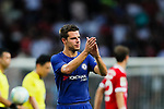 Chelsea Defender Cesar Azpilicueta gestures during the International Champions Cup match between Chelsea FC and FC Bayern Munich at National Stadium on July 25, 2017 in Singapore. Photo by Marcio Rodrigo Machado / Power Sport Images