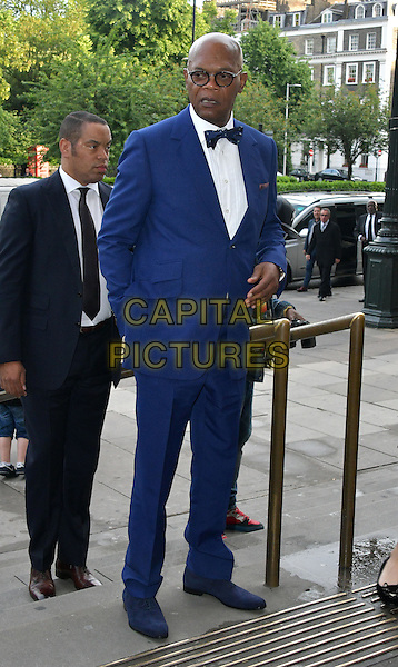 Samuel L Jackson at Charity ball in aid of One For The Boys, a charity raising awareness of male forms of cancer, encouraging men to get checked regularly. Evening celebrates the launch of the 2016 campaign film The Difference, at Victoria and Albert Museum, London, England June 12, 2016.<br /> CAP/JOR<br /> &copy;JOR/Capital Pictures