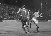 03/09/1980 Blackpool v Everton  League Cup 2nd Round 2nd Leg .Wayne Harrison tackled....© Phill Heywood.