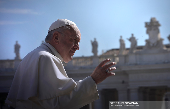 Pope Francis during of a weekly general audience at St Peter's square in Vatican, Wednesday.May 8, 2019