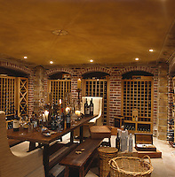 Wine-tasting in this well-stocked cellar can just as easily turn into dinner